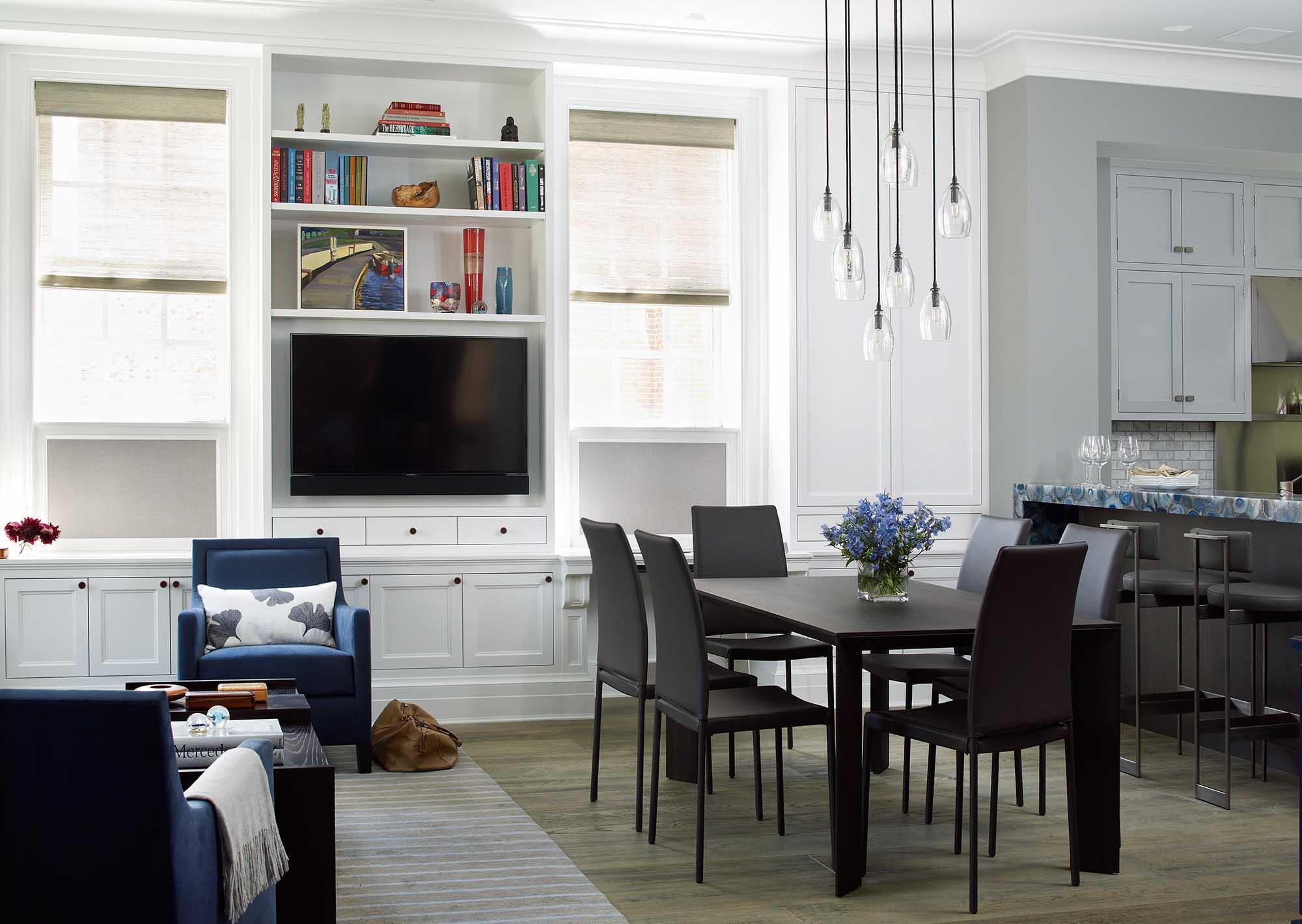 79th Street Apartment, Lenox Hill, Manhattan, Central Park transitional, breakfast family kitchen, built in
