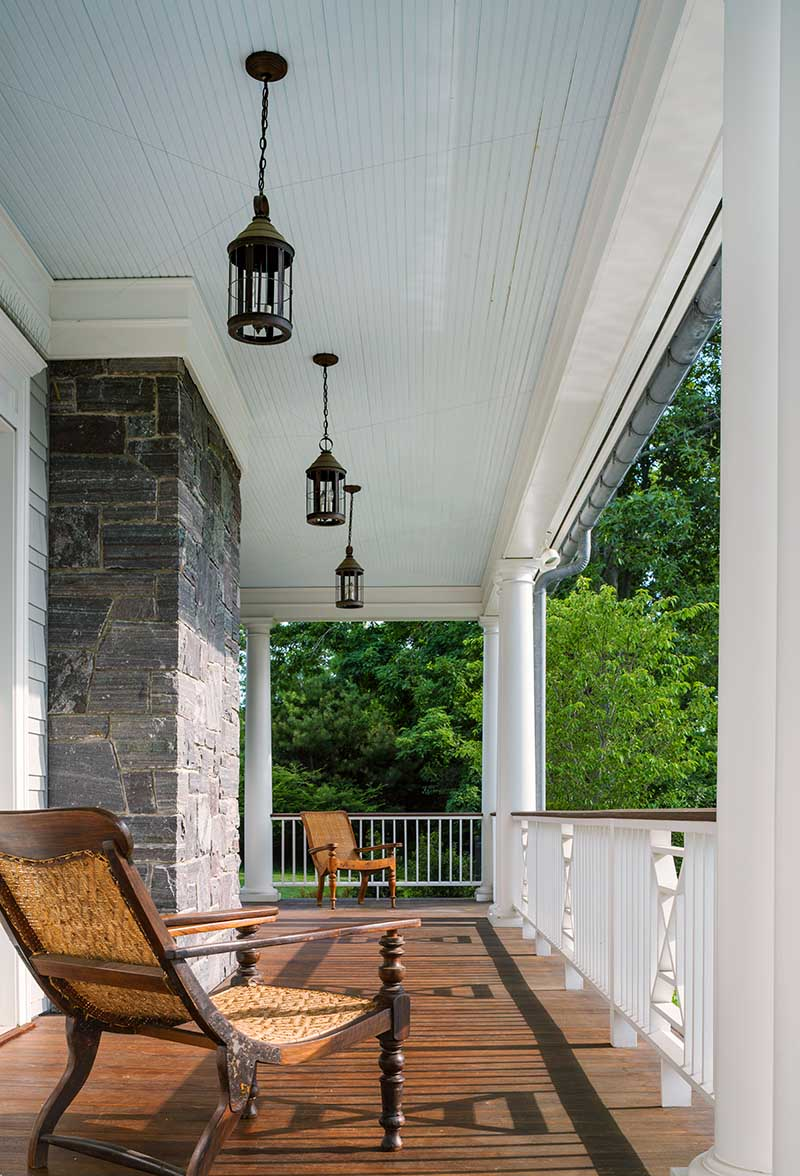 Queen Anne Revival, Cold Spring Harbor, long island, patio, deck, wrap around