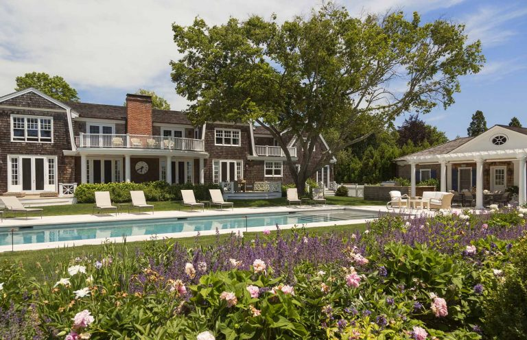 East Hampton, Long Island architect, classical, traditional, transitional, neoclassical, renovation, pool, cabana, shingle style