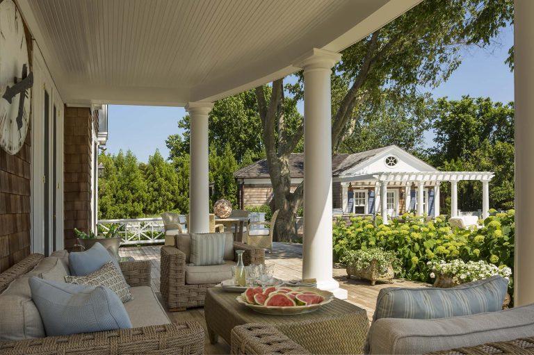 East Hampton, Long Island architect, classical, traditional, transitional, neoclassical, renovation, cabana, shingle style, deck, doric columns