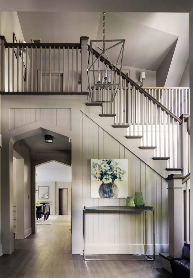 Entry hall stair renovation, architect gold coast