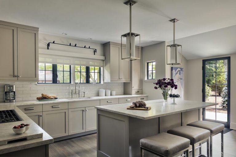 Transitional white kitchen renovation