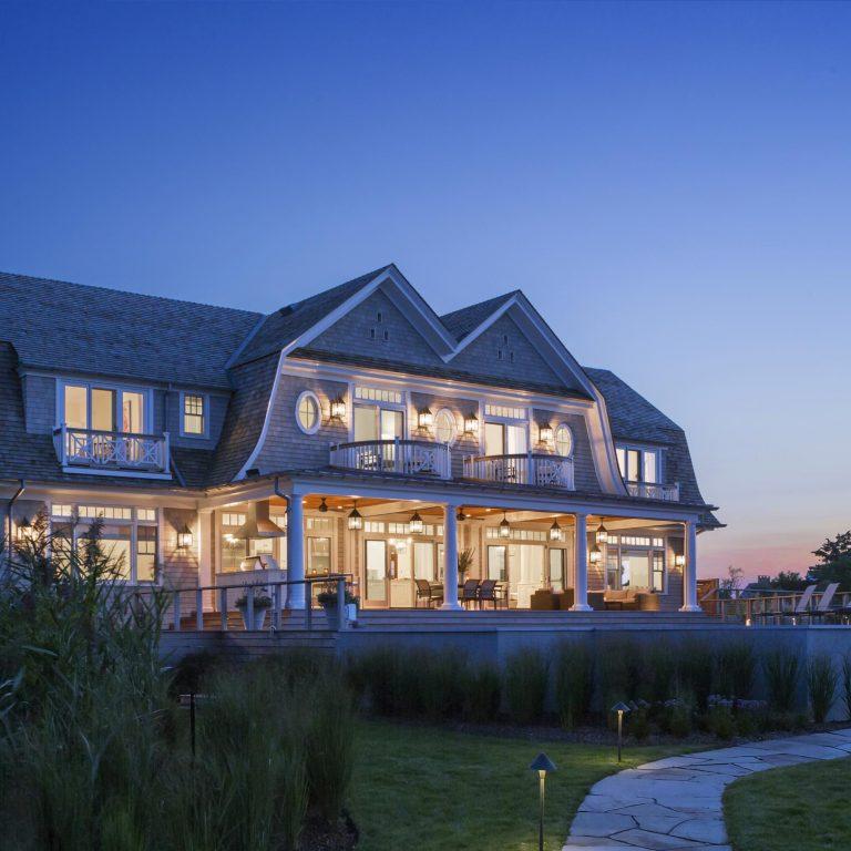 Shingle Style Residence, Quogue, deck, pool, patio, gambrel