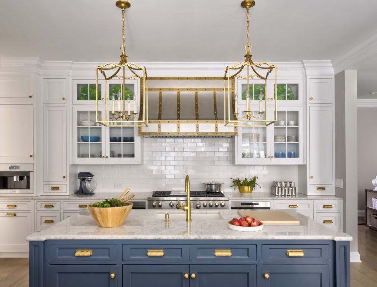 Sands Point long island renovationWhite Kitchen; Interior; Brass, Gold